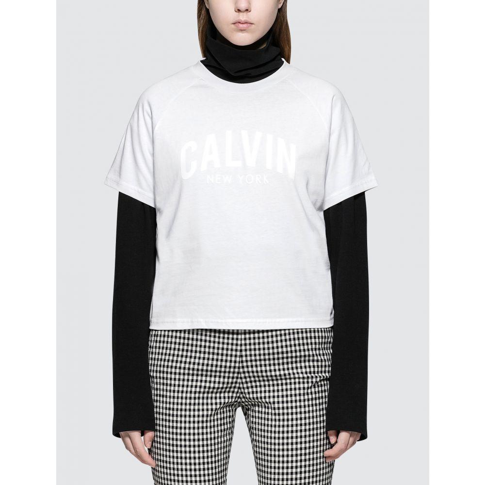 カルバンクライン Calvin Klein Jeans レディース Tシャツ ラグラン トップス【Raglan Logo S/S T-Shirt】White