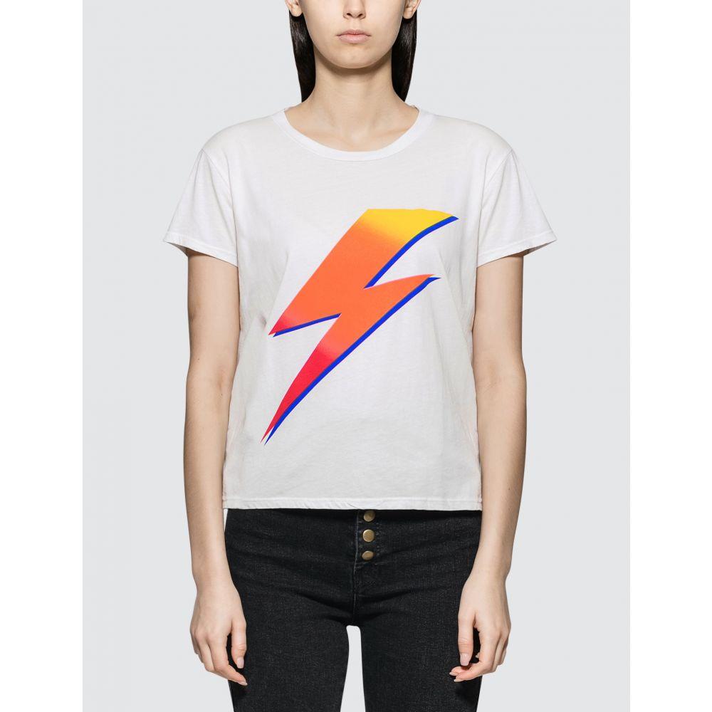 マザー Mother レディース Tシャツ トップス【Bolt Short Sleeve T-shirt】White
