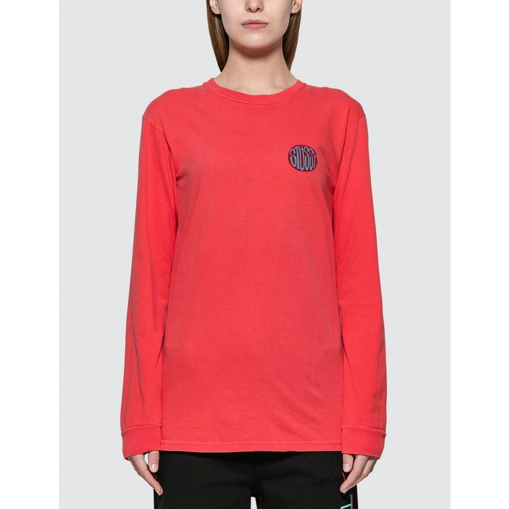 ステューシー Stussy レディース 長袖Tシャツ トップス Solar PigDyed Long Sleeve T shirt RedsQrdth