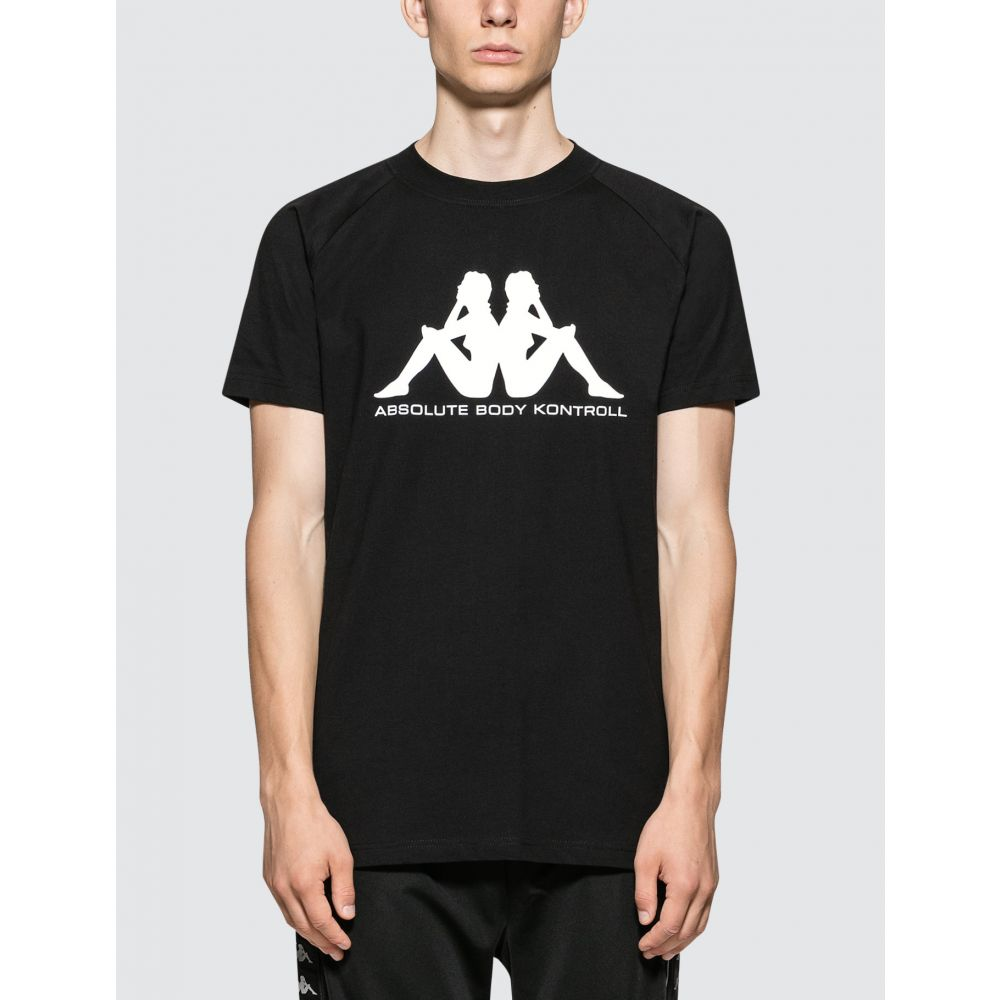 カッパ Kappa Kontroll メンズ Tシャツ トップス【S/S T-Shirt】Black/White