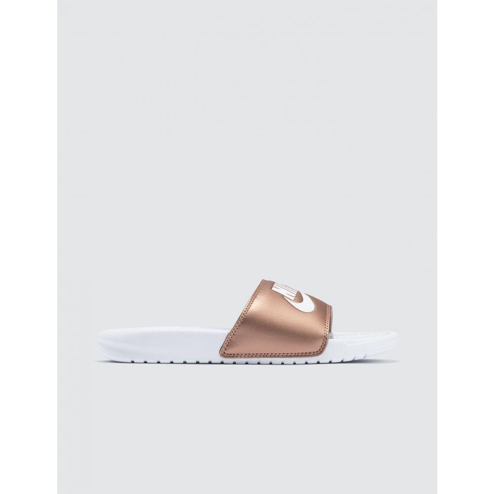 ナイキ Nike レディース サンダル・ミュール シューズ・靴【Benassi JDI】White/Mtlc Red Bronze