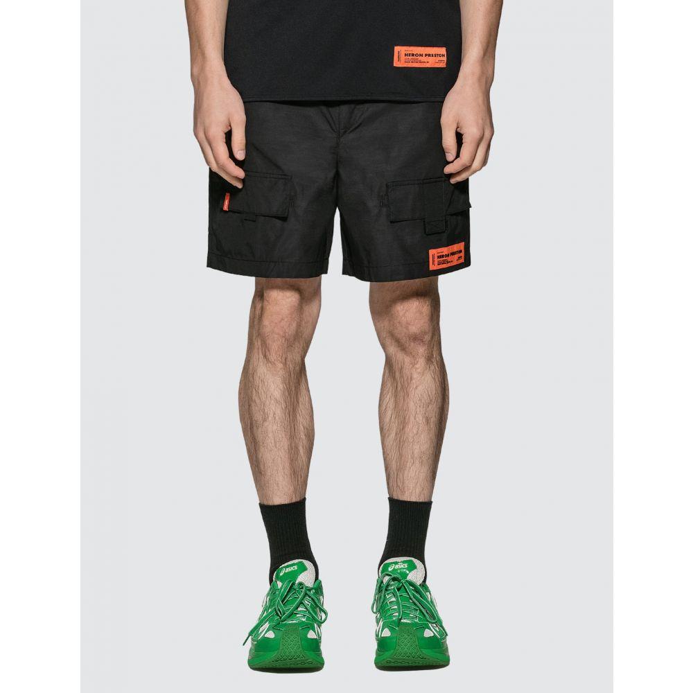 ヘロン プレストン Heron Preston メンズ ショートパンツ カーゴ ボトムス・パンツ【Cargo Shorts】Black