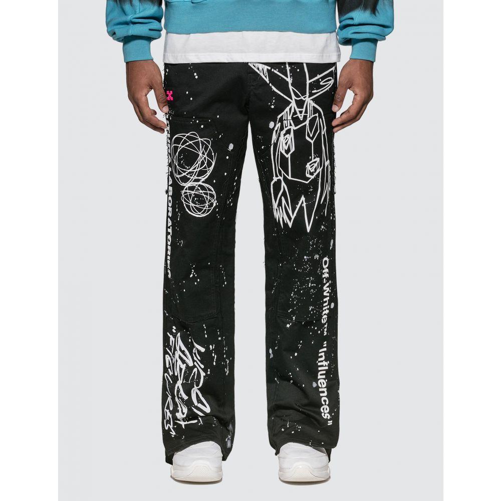 オフホワイト Off-White メンズ ボトムス・パンツ 【Futura Alien Carpenter Pants】Black