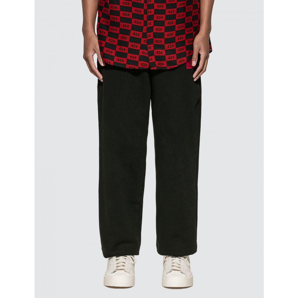フォートゥーフォー 424 メンズ スウェット・ジャージ ボトムス・パンツ【Box Logo Sweatpants】Black