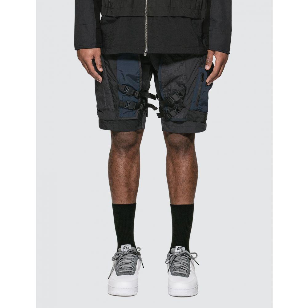 ホワイトマウンテニアリング White Mountaineering メンズ ショートパンツ ボトムス・パンツ【Mixed Short Pants】Black/Navy