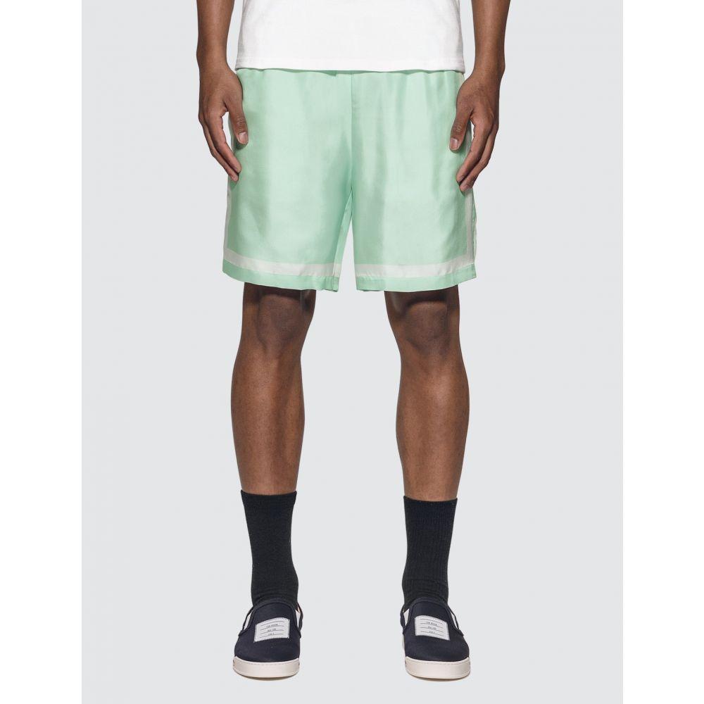 カサブランカ Casablanca メンズ テニス ショートパンツ ボトムス・パンツ【Tennis Silk Shorts】Tennis Mint