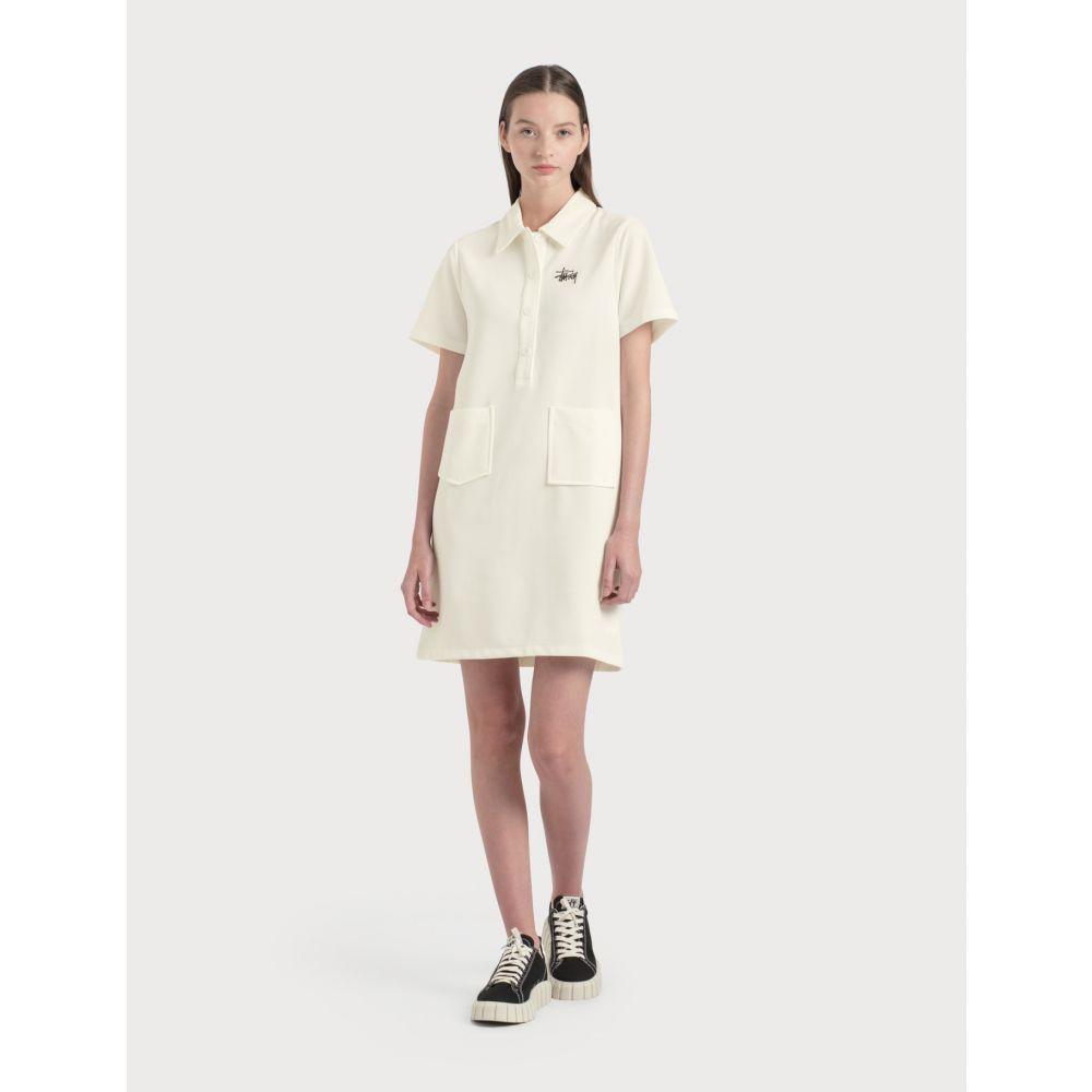 ステューシー Stussy レディース ワンピース ワンピース・ドレス【Poly Knit Dress】White