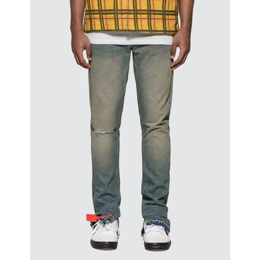 オフホワイト Off-White メンズ ジーンズ・デニム ボトムス・パンツ【Slim Split Jeans】Medium Blue Wash