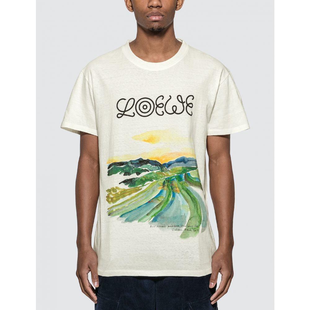 ロエベ Loewe メンズ Tシャツ トップス【ELN Watercolor Print T-Shirt】Natural/Multicolor