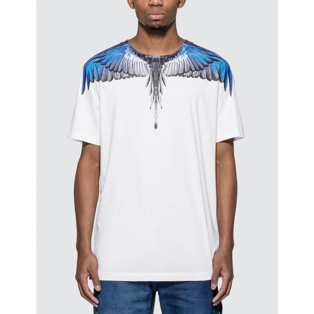 マルセロバーロン Marcelo Burlon メンズ Tシャツ トップス【Wings Basic T-shirt】White/Blue/Black