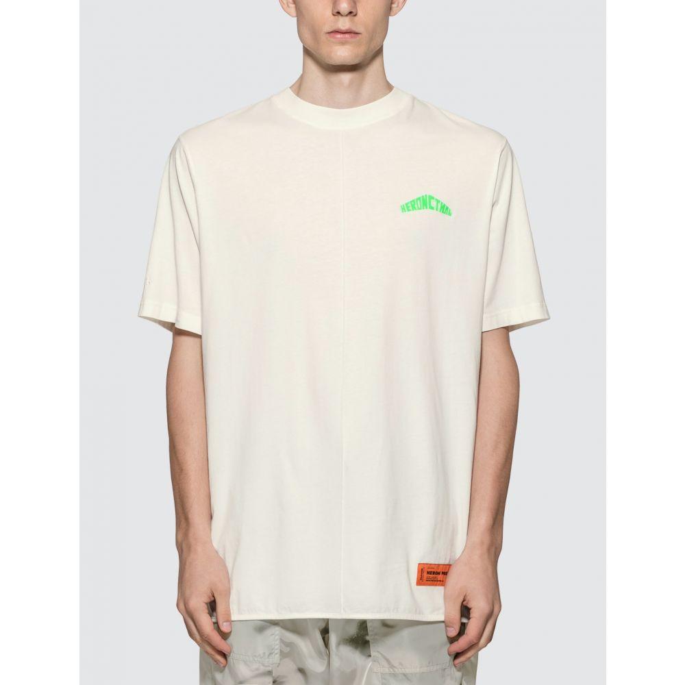ヘロン プレストン Heron Preston メンズ Tシャツ トップス【Logo T-shirt】White/Green