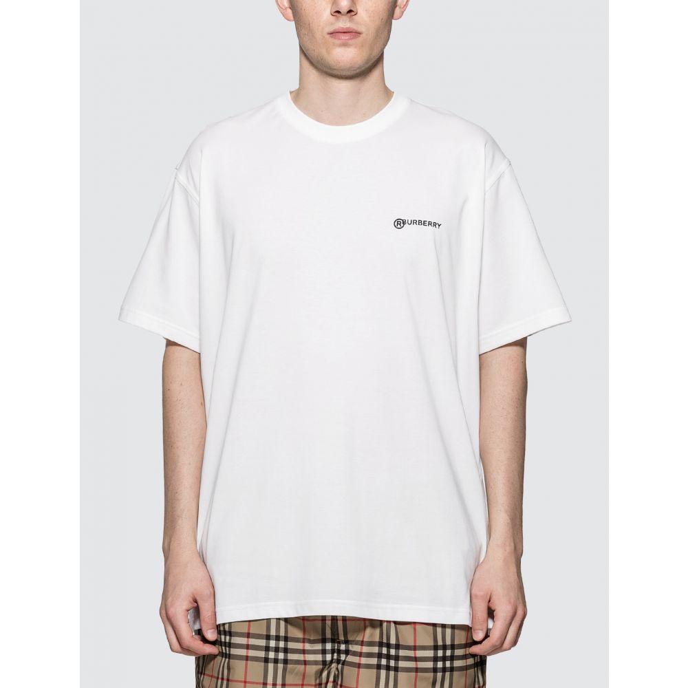 バーバリー Burberry メンズ Tシャツ トップス【Location Print Cotton Oversized T-shirt】White