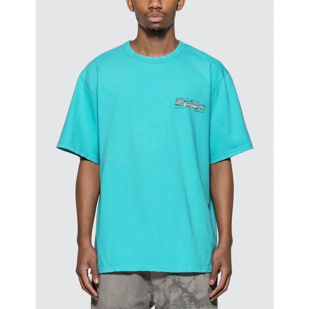 ミスビヘイブ Misbhv メンズ Tシャツ トップス【The MBH Hotel & SPA T-shirt】Turquoise