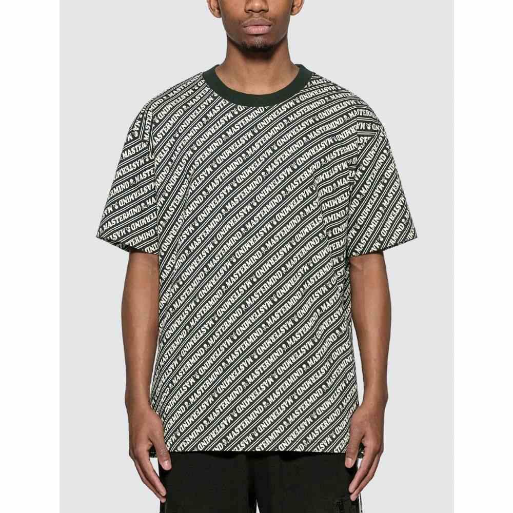 マスターマインド Mastermind World メンズ Tシャツ トップス【Allover Logo Print T-shirt】Black