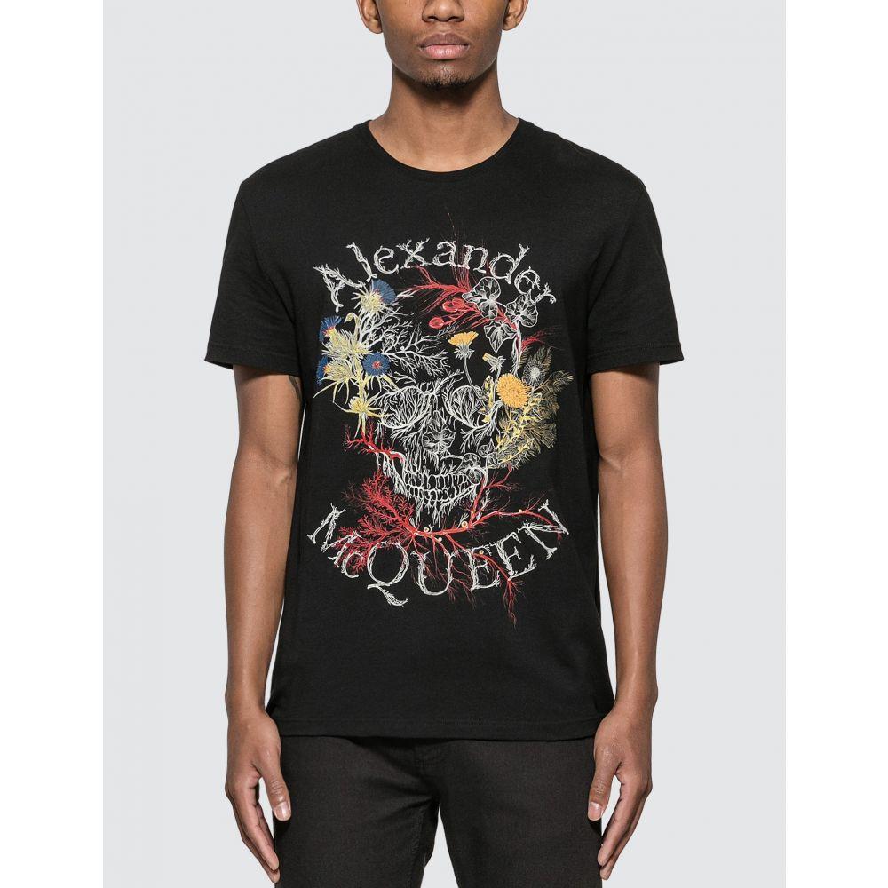 アレキサンダー マックイーン Alexander McQueen メンズ Tシャツ トップス【Botanical Skull T-Shirt】Black
