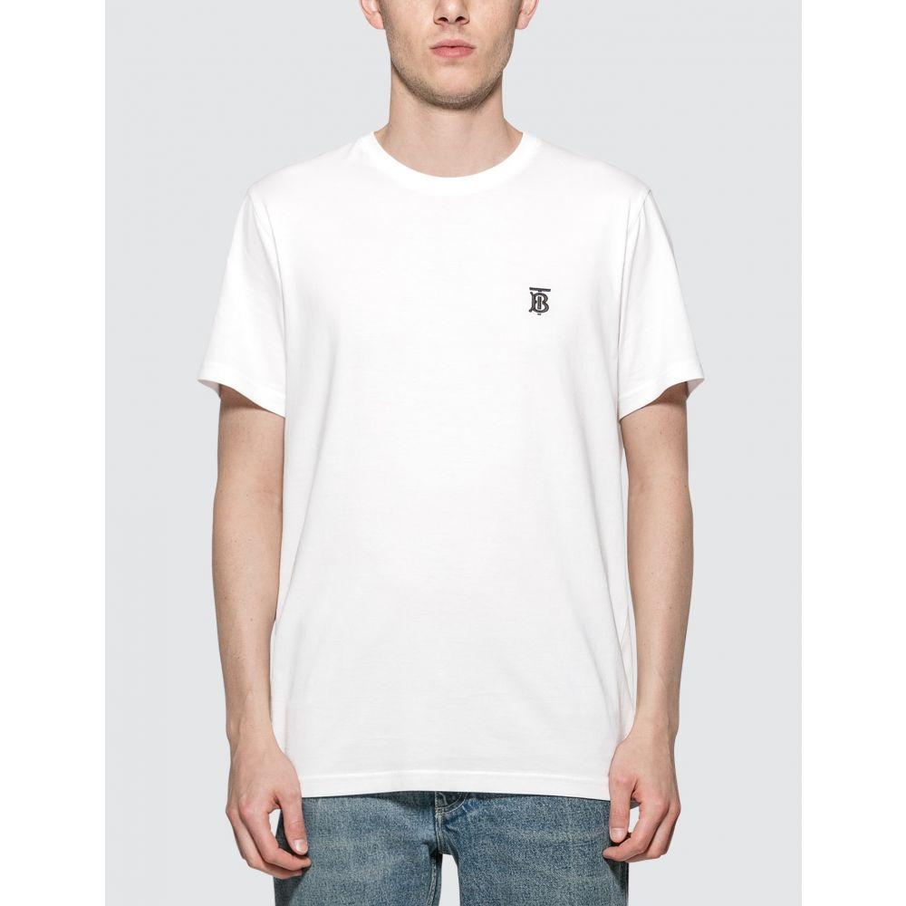 バーバリー Burberry メンズ Tシャツ トップス【Monogram Motif Cotton T-shirt】White