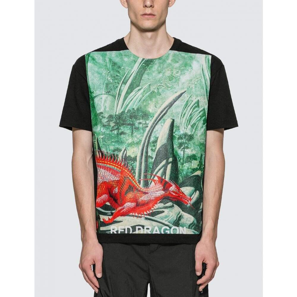 ヴァレンティノ Valentino メンズ Tシャツ トップス【Red Dragon T-Shirt】Black