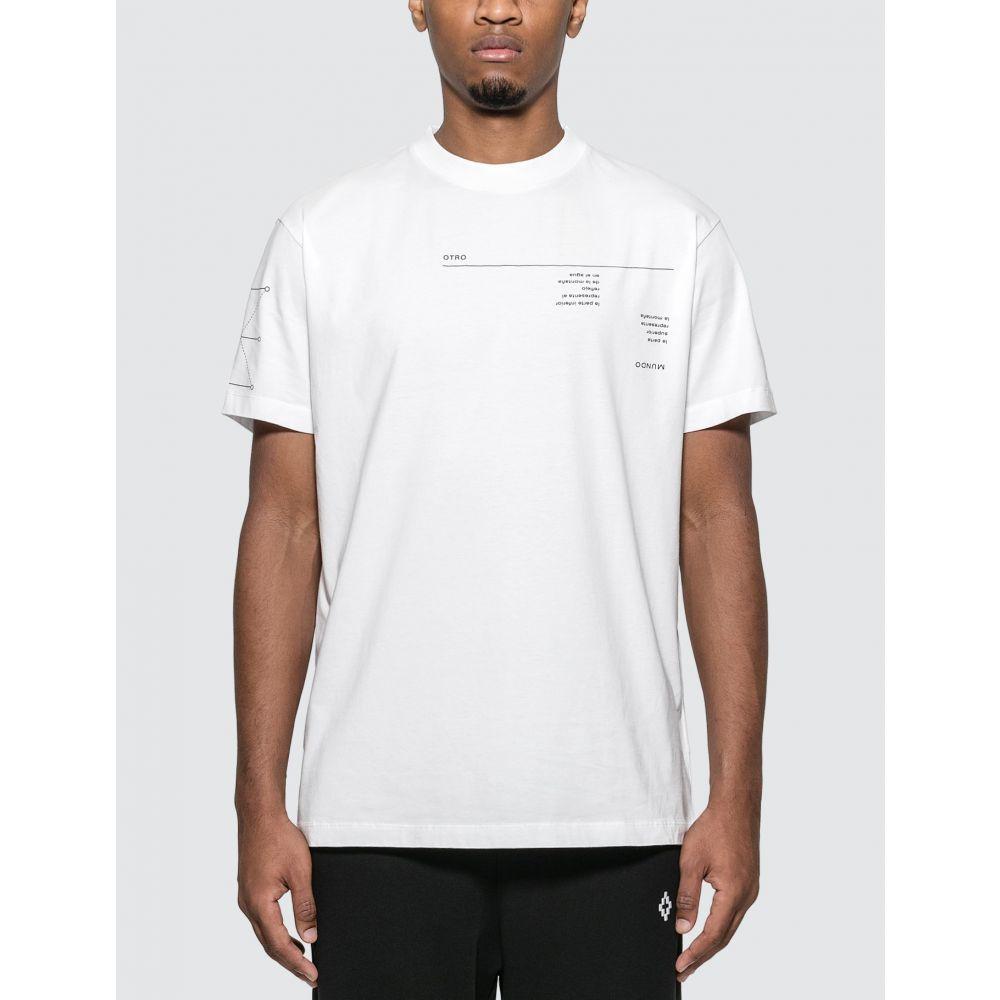 マルセロバーロン Marcelo Burlon メンズ Tシャツ トップス【Abstract T-Shirt】White