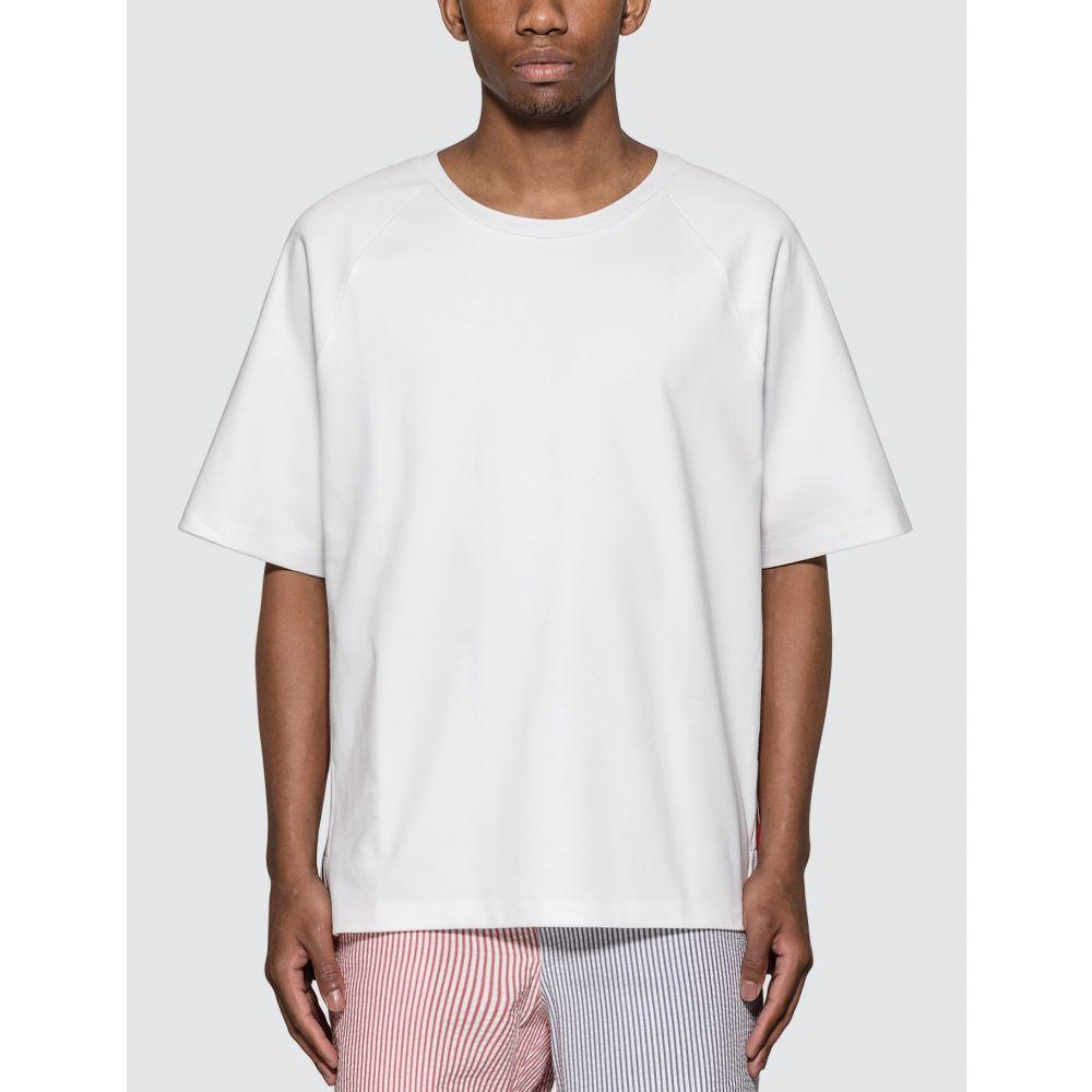 トム ブラウン Thom Browne メンズ Tシャツ トップス【Interlock RWB Stripe T-Shirt】White