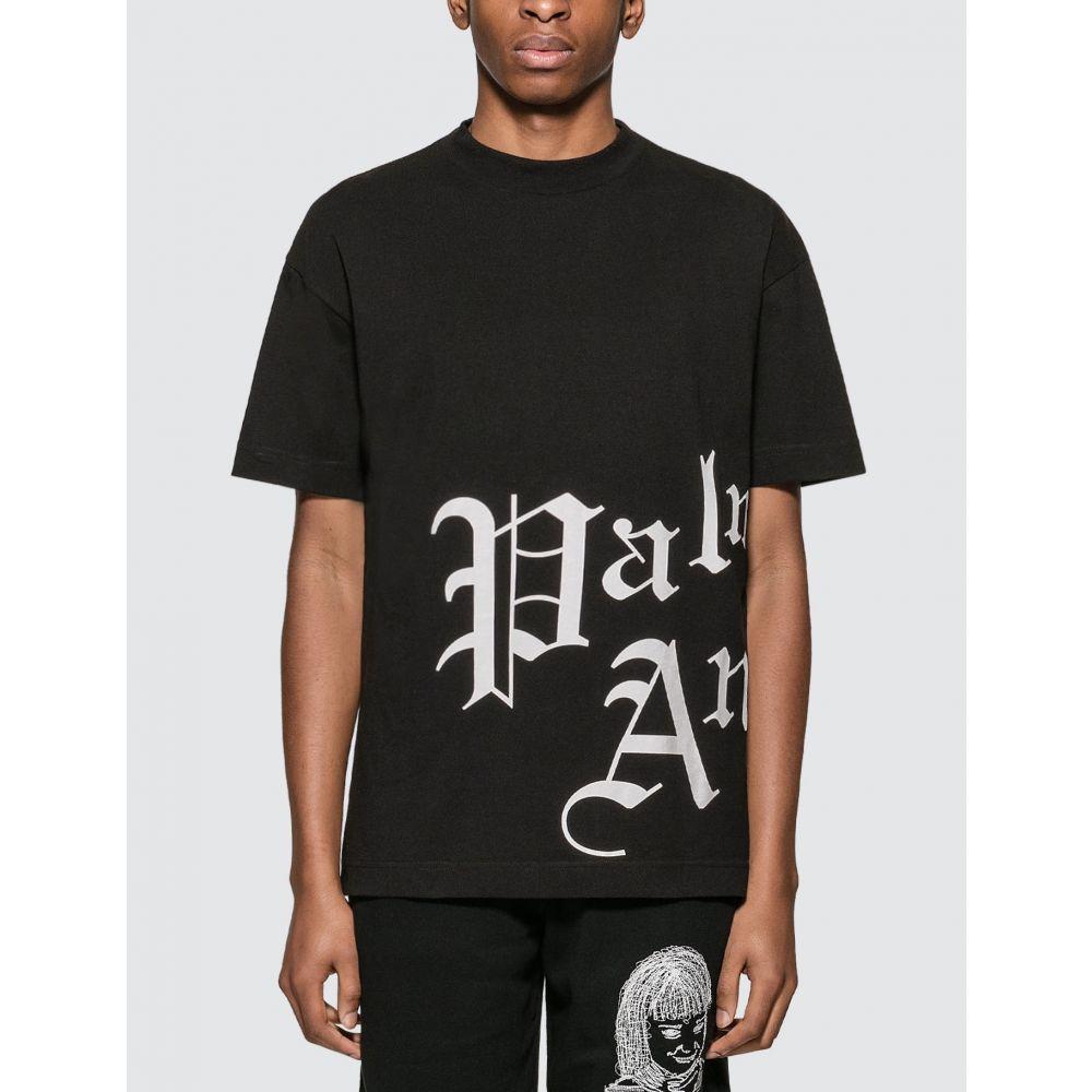 パーム エンジェルス Palm Angels メンズ Tシャツ トップス【Gothic T-shirt】Black/White