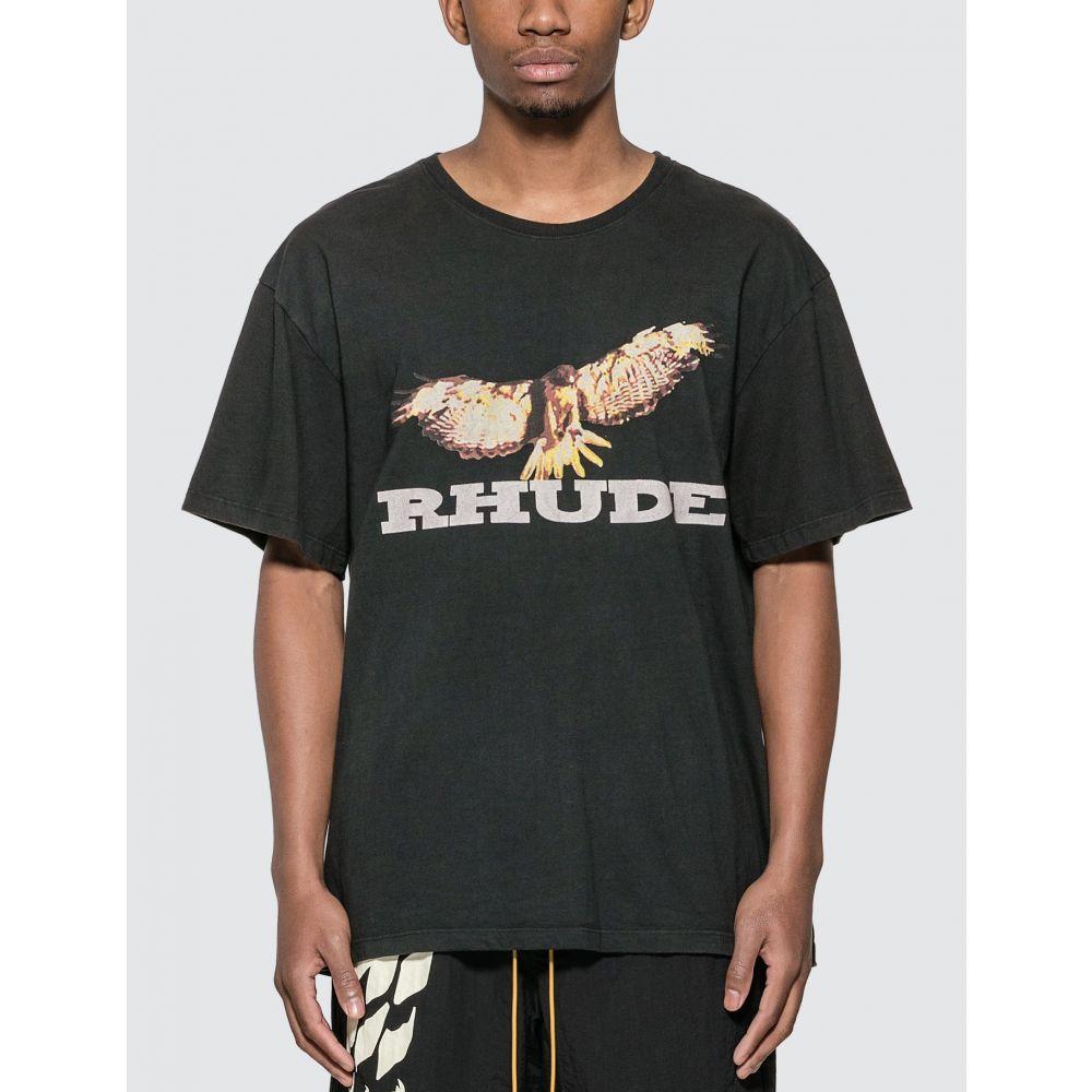 ルード Rhude メンズ Tシャツ トップス【Vintage Eagle T-Shirt】Black