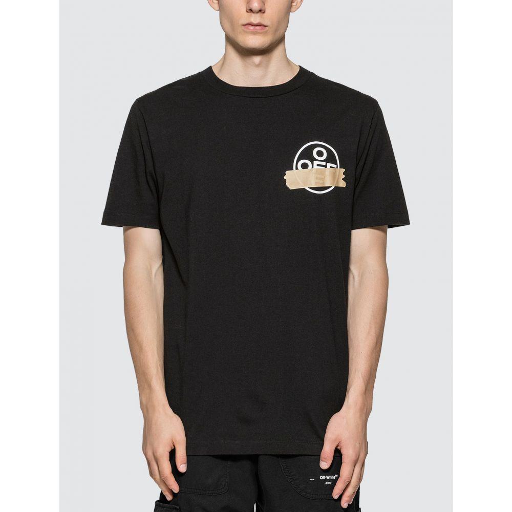 オフホワイト Off-White メンズ Tシャツ トップス【Tape Arrows Reconstructed T-Shirt】Black