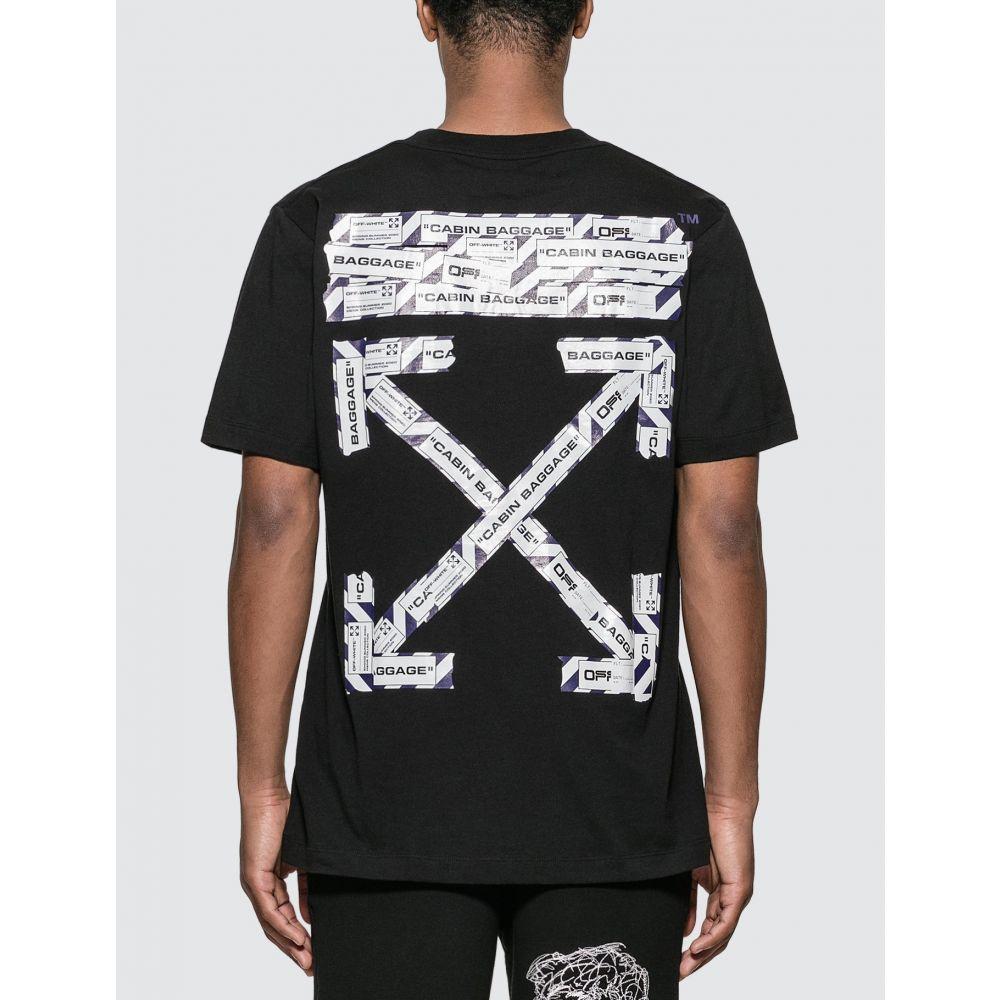 オフホワイト Off-White メンズ Tシャツ トップス【Airport Tape T-shirt】Black