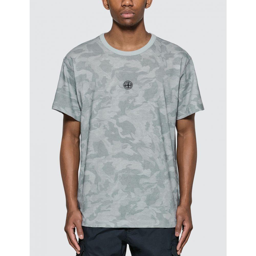 ストーンアイランド Stone Island メンズ Tシャツ トップス【Big Loom Camo Logo T-Shirt】Pale Blue