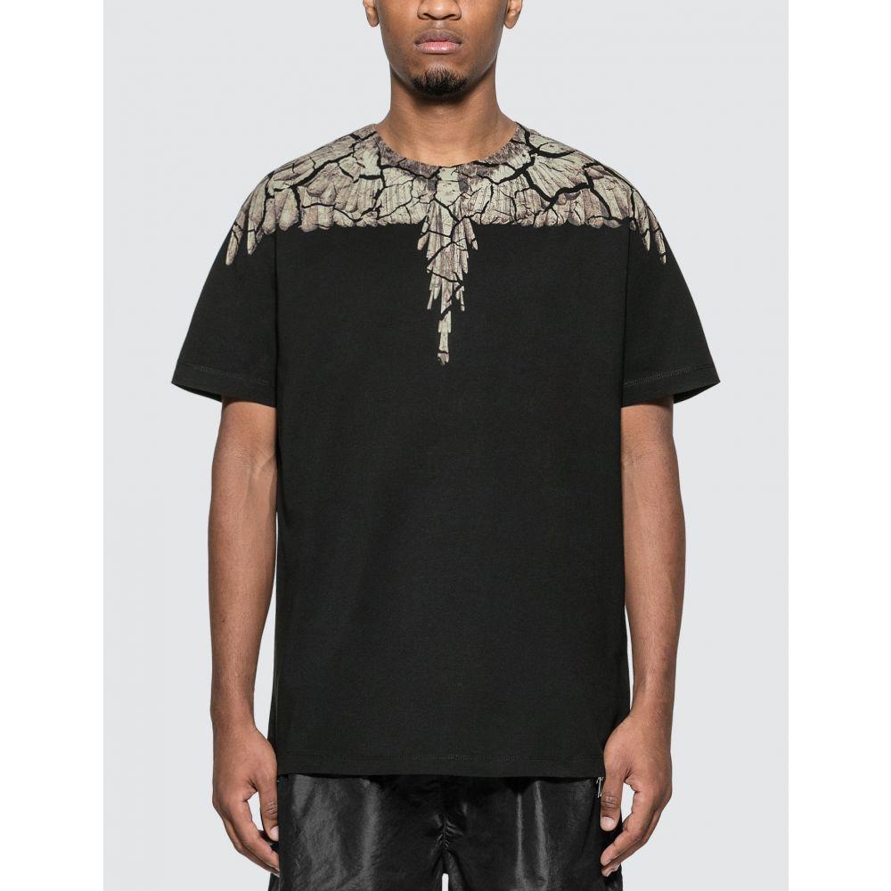 マルセロバーロン Marcelo Burlon メンズ Tシャツ トップス【Earth Wings T-Shirt】Black/Brown