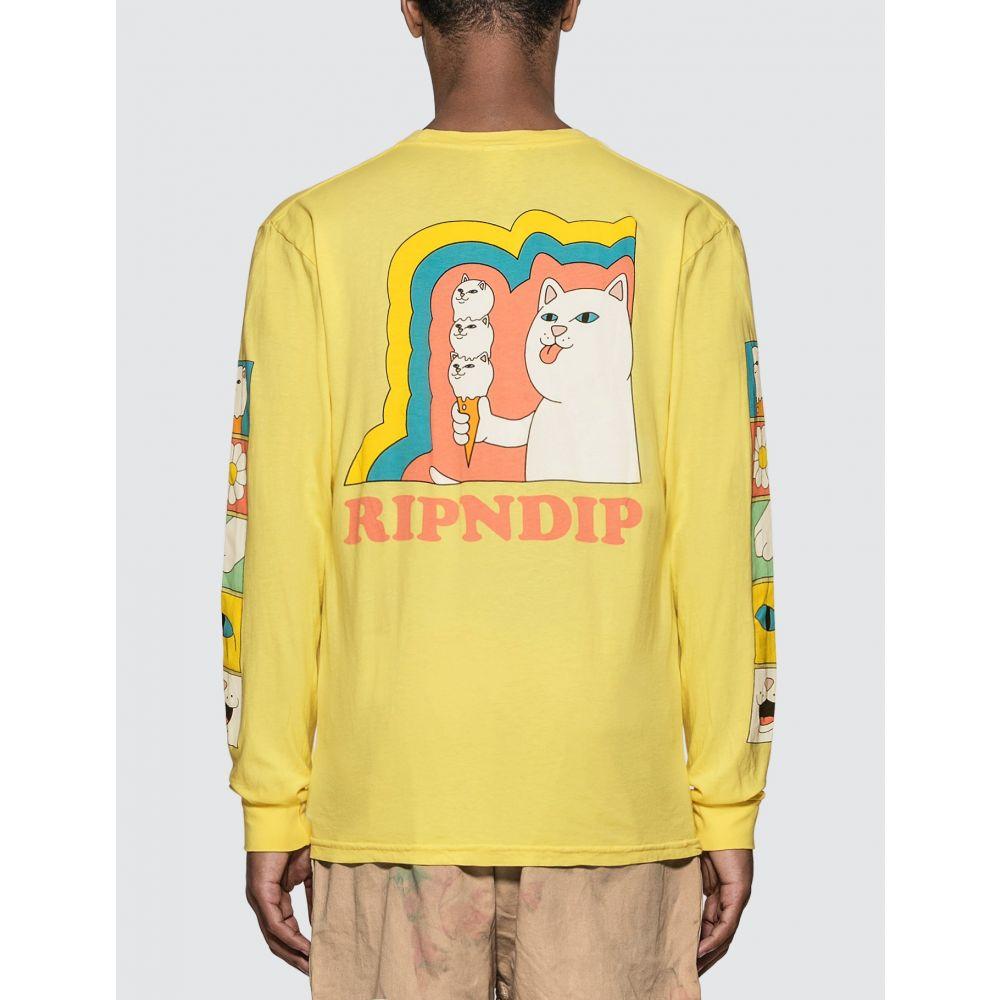 リップンディップ RIPNDIP メンズ 長袖Tシャツ トップス【Lick Me Long Sleeve T-Shirt】Banana