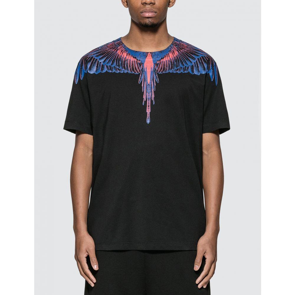 マルセロバーロン Marcelo Burlon メンズ Tシャツ トップス【Orange Wings T-shirt】Black/Multicolor