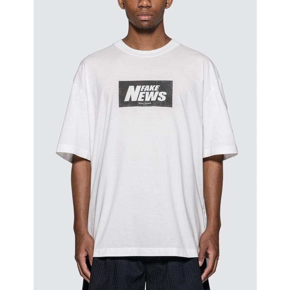 メゾン マルジェラ Maison Margiela メンズ Tシャツ トップス【Fake News T-Shirt】White