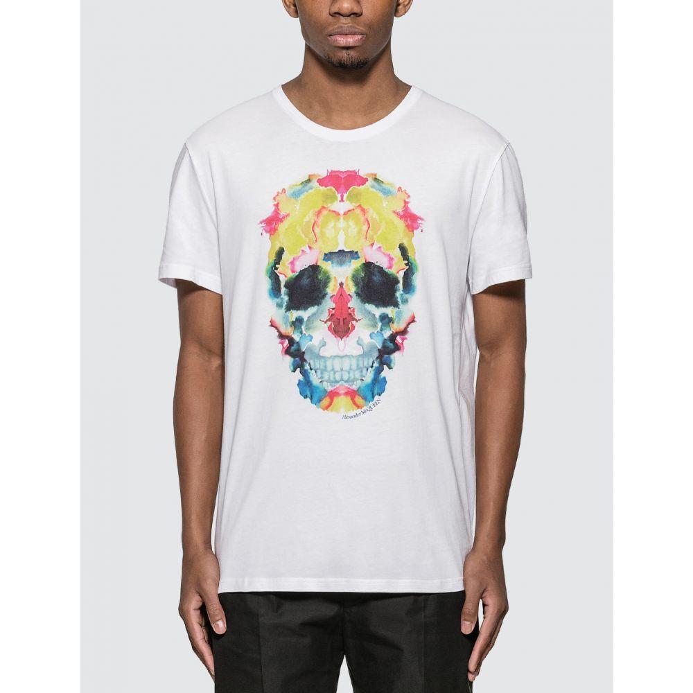 アレキサンダー マックイーン Alexander McQueen メンズ Tシャツ トップス【Sprayed Skull T-shirt】White