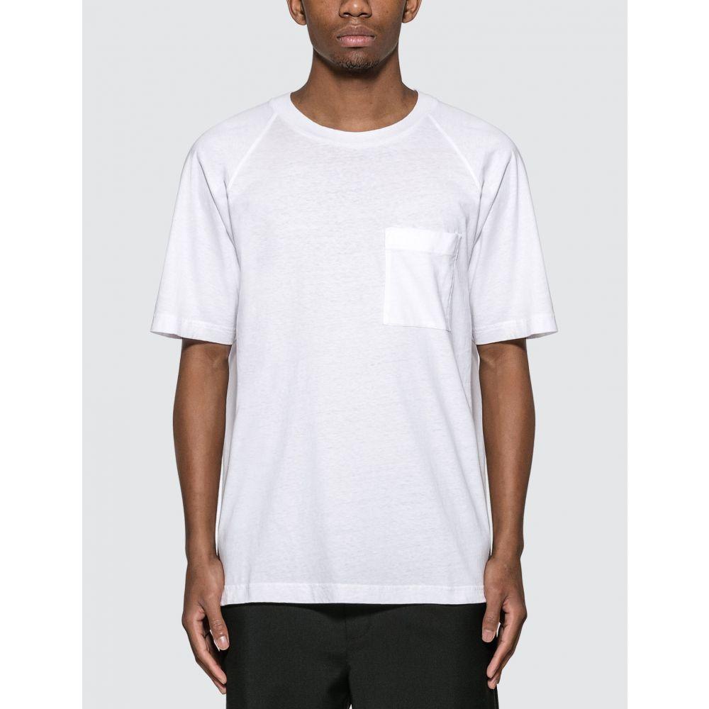 アクネ ストゥディオズ Acne Studios メンズ Tシャツ トップス【Reverse Label T-Shirt】Optic White