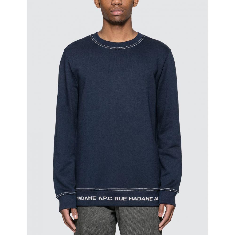 アーペーセー A.P.C. メンズ スウェット・トレーナー トップス【Austin Sweatshirt】Dark Navy