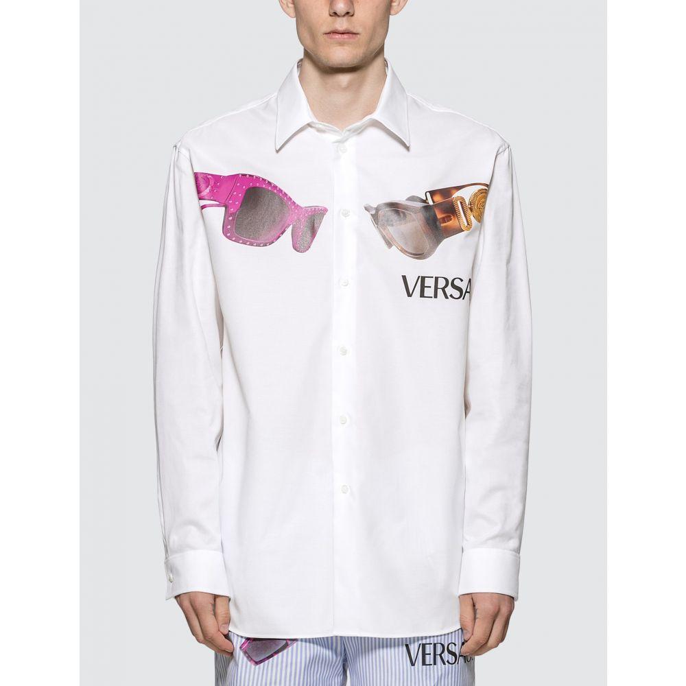 ヴェルサーチ Versace メンズ シャツ メデューサ トップス【Medusa Biggie Print Shirt】White
