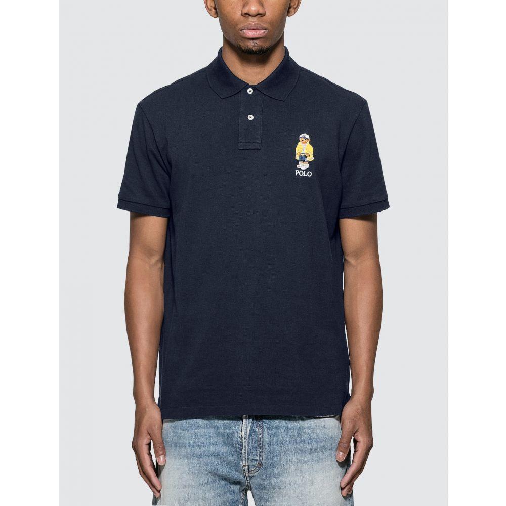 ラルフ ローレン Polo Ralph Lauren メンズ ポロシャツ トップス【Polo Shirt With Embroidered Polo Bear】Navy