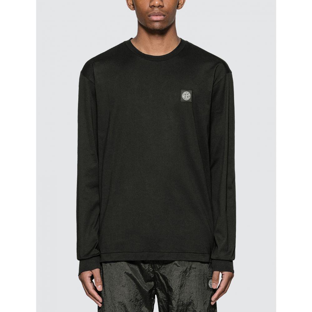 ストーンアイランド Stone Island メンズ 長袖Tシャツ ポケット トップス【Pocket Long Sleeve T-Shirt】Black