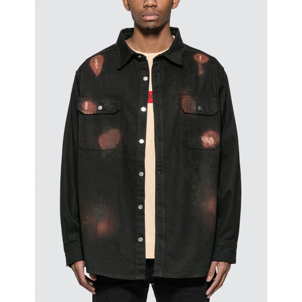 フォートゥーフォー 424 メンズ ジャケット シャツジャケット アウター【Workwear Shirt Jacket】Black
