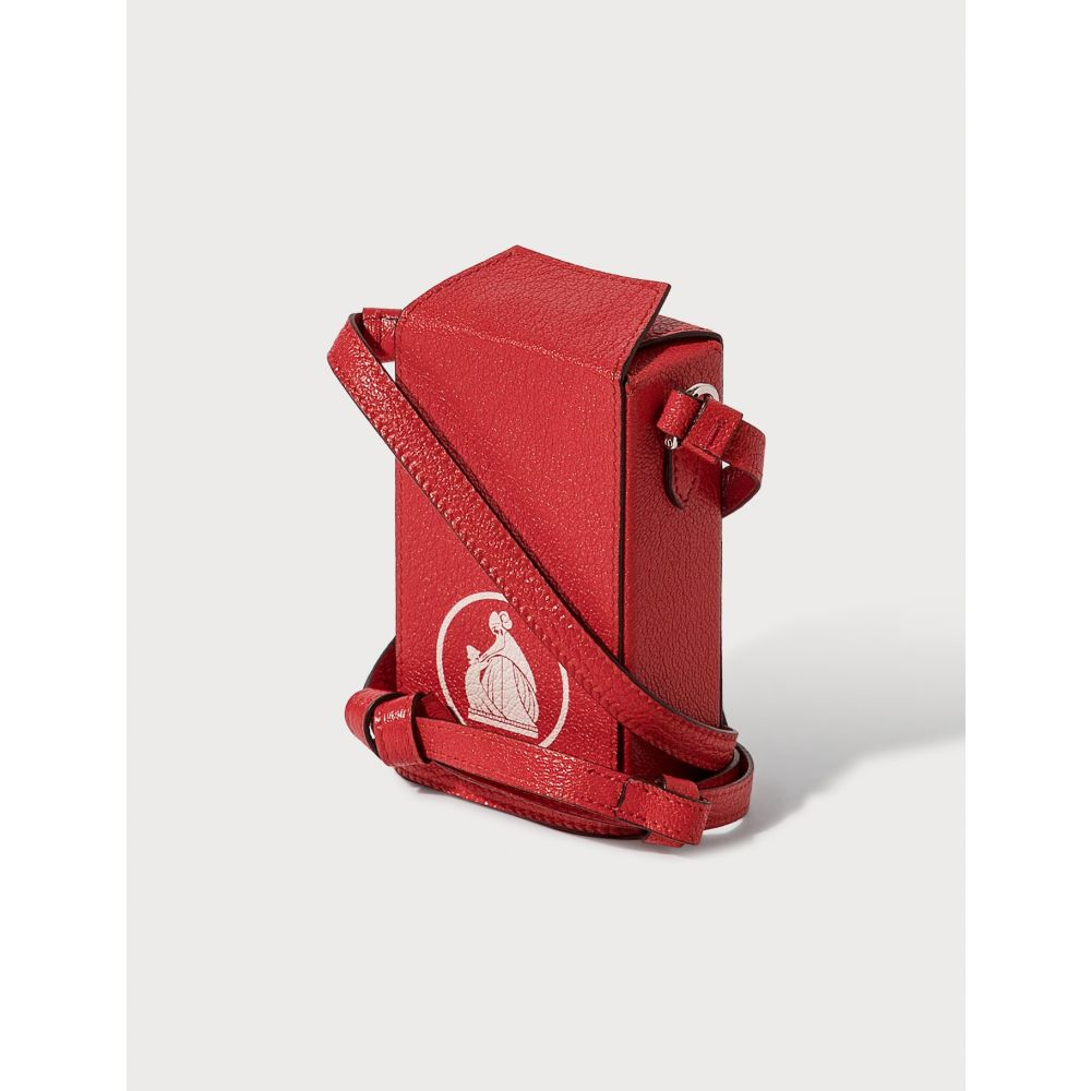 ランバン Lanvin レディース ショルダーバッグ バッグ【Cross Body Cigarette Box】Red