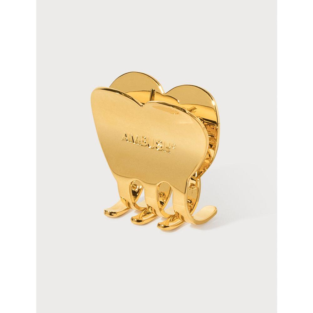 アンブッシュ Ambush レディース ヘアアクセサリー ヘアクリップ【Heart Hair Clip Large】Gold