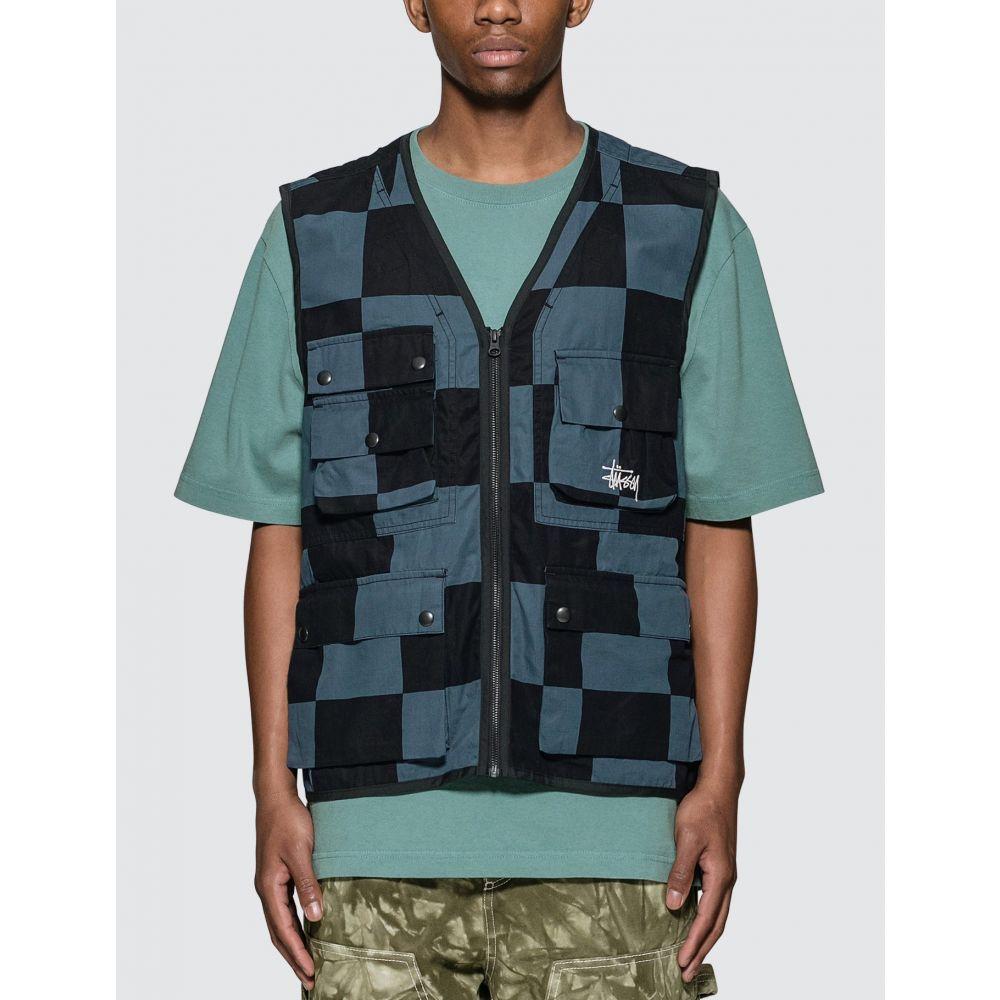 ステューシー Stussy メンズ ベスト・ジレ トップス【Utility Vest】Black/Blue