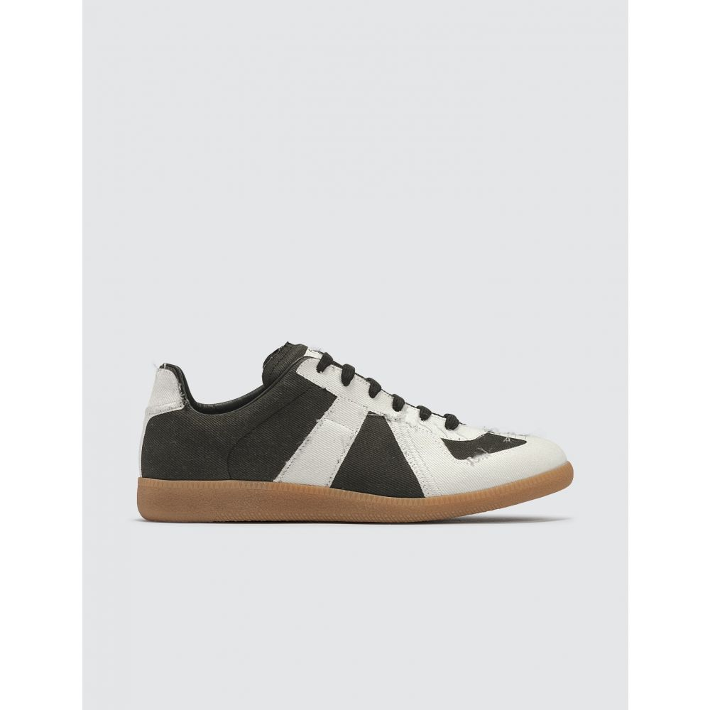 メゾン マルジェラ Maison Margiela メンズ スニーカー シューズ・靴【Denim Replica Sneakers】Black/White