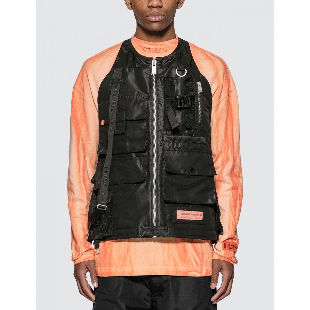 ヘロン プレストン Heron Preston メンズ ベスト・ジレ トップス【Nylon Pockets Vest】Black