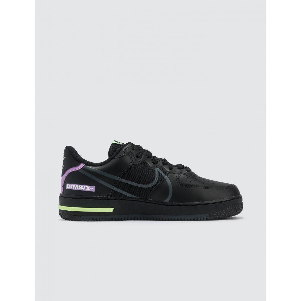 ナイキ Nike メンズ スニーカー エアフォースワン シューズ・靴 Air Force 1 React Black Anthracite violet Star barely VolterdCxWBo