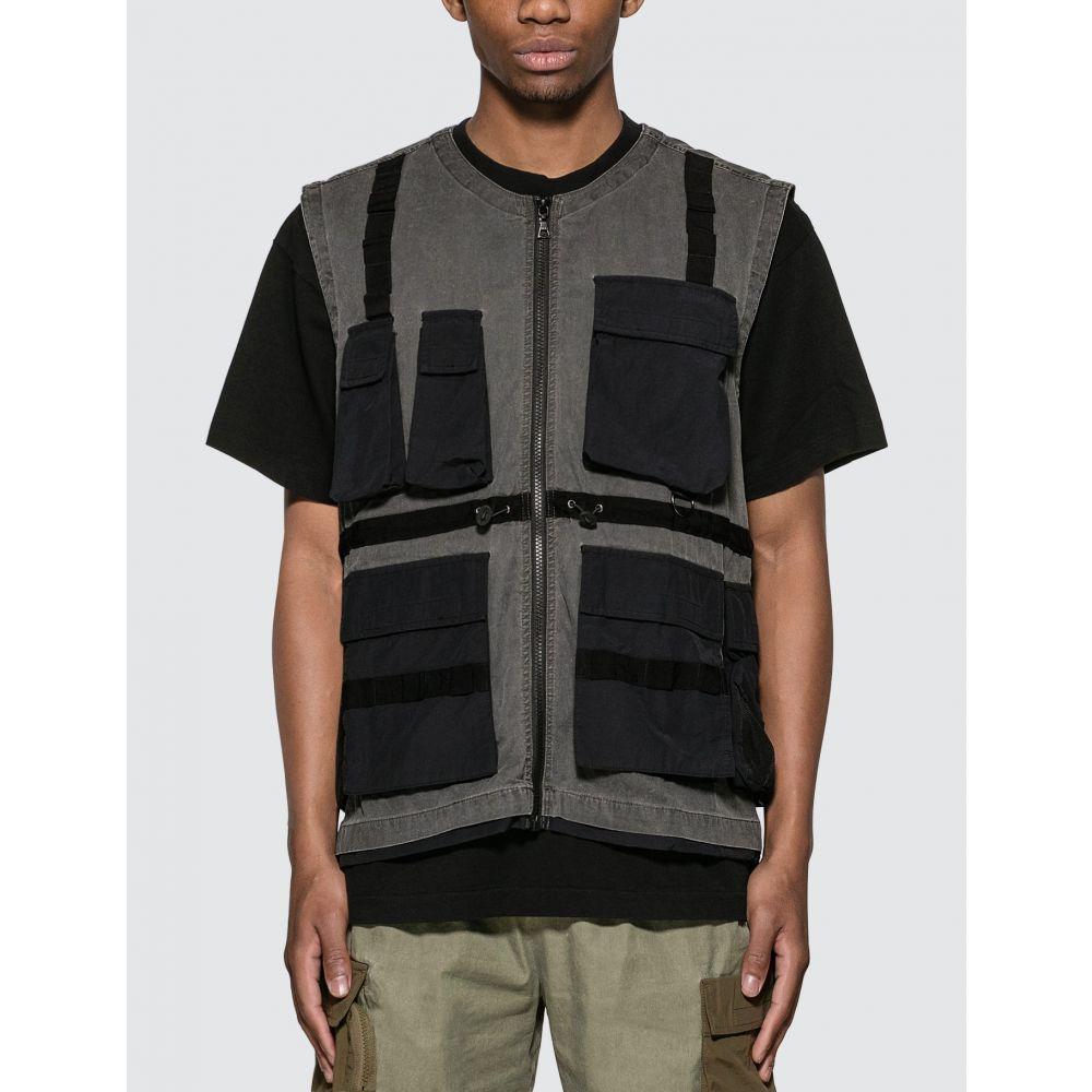 ジョン エリオット John Elliott メンズ ベスト・ジレ トップス【Miramar Tactical Vest】Washed Black
