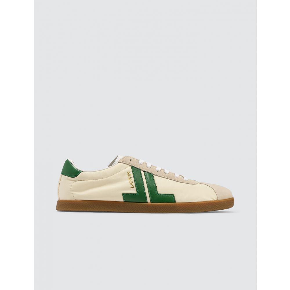 ランバン Lanvin メンズ スニーカー ローカット シューズ・靴【JL Low Top Sneaker】Ecru/Green