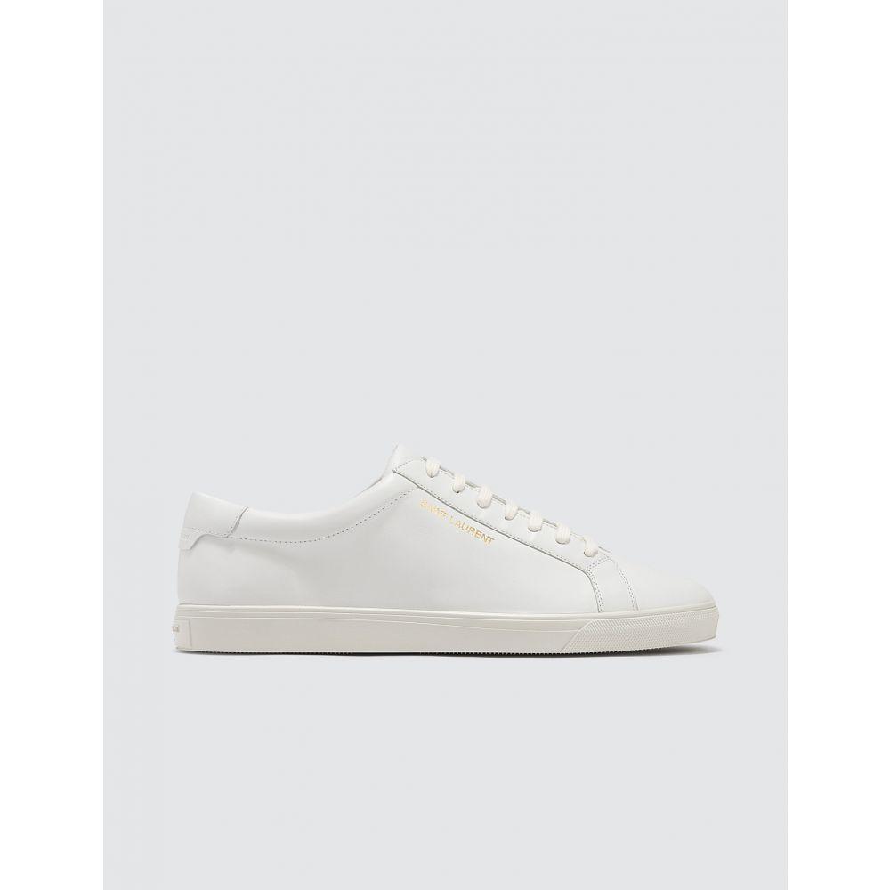 イヴ サンローラン Saint Laurent メンズ スニーカー シューズ・靴【Andy Leather Sneakers】White