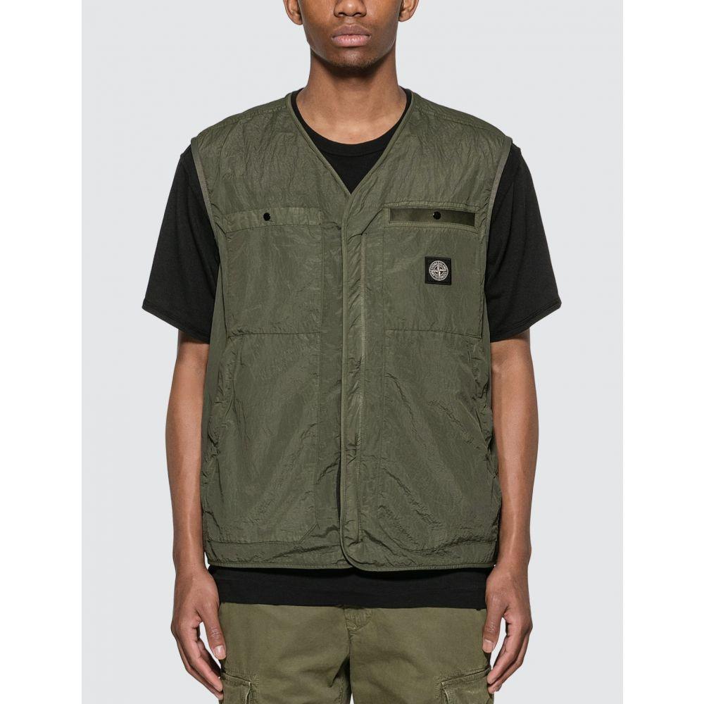 ストーンアイランド Stone Island メンズ ベスト・ジレ トップス【Seersucker Vest】Olive