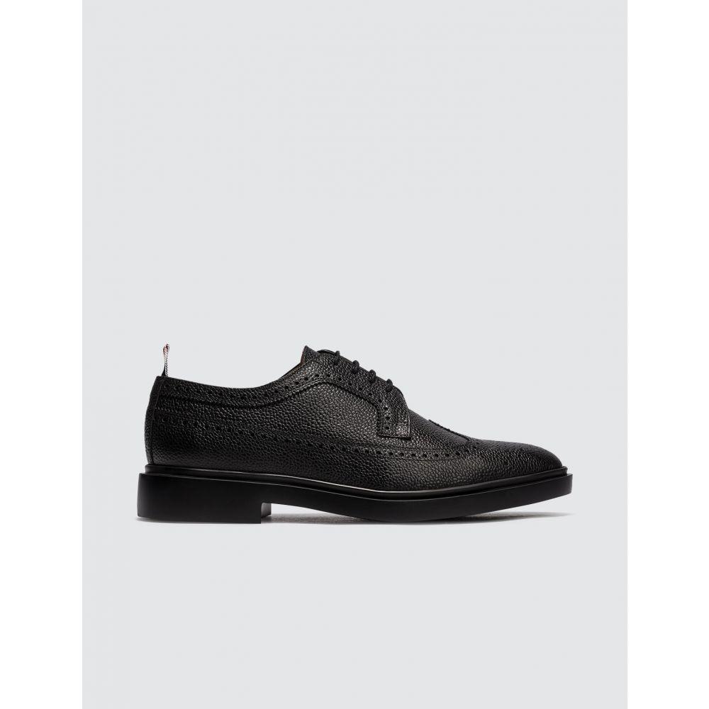 トム ブラウン Thom Browne メンズ 革靴・ビジネスシューズ メダリオン シューズ・靴【Classic Longwing Brogue】Black
